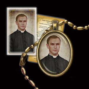 Fr. Michael McGivney Pendant & Holy Card Gift Set