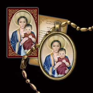 Our Lady of LaVang Pendant & Holy Card Gift Set