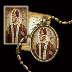 St. Richard of Chichester Pendant & Holy Card Gift Set