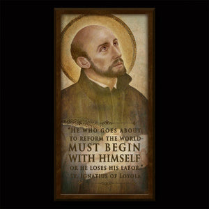 St. Ignatius of Loyola Inspirational Plaque