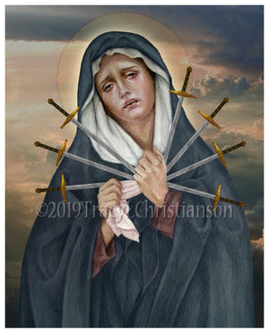 Seven Sorrows of Our Lady Print