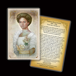 Zita of Bourbon-Parma Holy Card