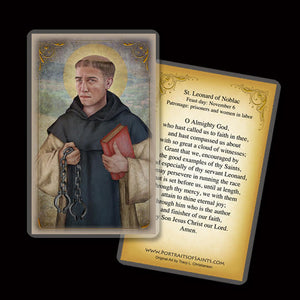 St. Leonard of Noblac Holy Card