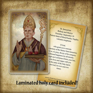 St. Januarius Plaque & Holy Card Gift Set