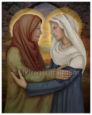 The Visitation of the Blessed Virgin Mary to St. Elizabeth Print