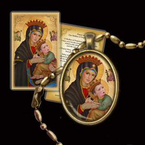 Our Lady of Perpetual Help Pendant & Holy Card Gift Set