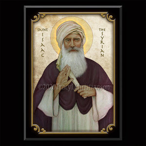 St. Isaac the Syrian Plaque & Holy Card Gift Set