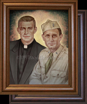 Fr. Emil Kapaun and Fr. Vincent Capodanno Framed