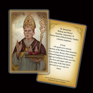 St. Januarius Holy Card