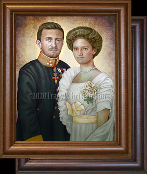 Bl. Karl of Austria and Zita of Austria  Framed