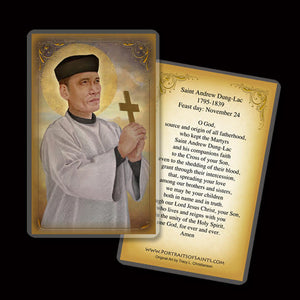 St. Andrew Dung-Lac Holy Card