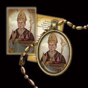 St. Januarius Pendant & Holy Card Gift Set