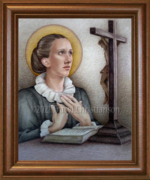 St. Catherine of Genoa Framed