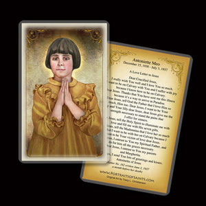 Antonietta Meo Holy Card