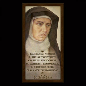 St. Edith Stein (St. Teresa Benedicta of the Cross) Inspirational Plaque
