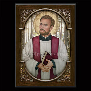 St. Gabriel Lalemant Plaque & Holy Card Gift Set