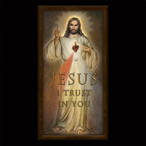 Divine Mercy Inspirational Plaque