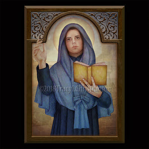 St. Rose Venerini Plaque & Holy Card Gift Set