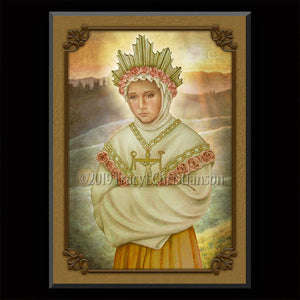 Our Lady of La Salette Plaque & Holy Card Gift Set