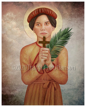St. Agnes Le Thi Thanh Print