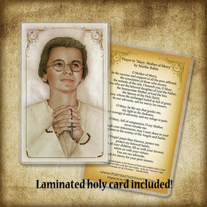Venerable Marthe Robin Plaque & Holy Card Gift Set
