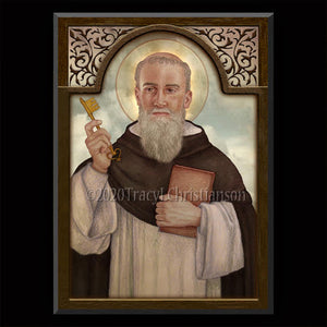 St. Raymond of Penafort Plaque & Holy Card Gift Set