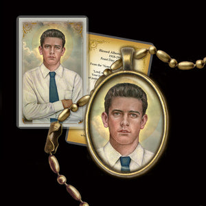 Bl. Alberto Marvelli Pendant & Holy Card Gift Set
