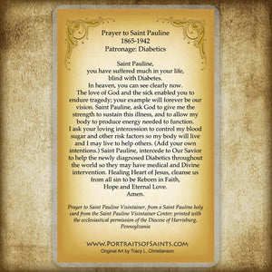 St. Pauline of the Agonizing Heart of Jesus Holy Card