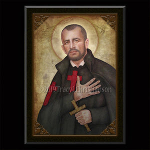 St. Camillus de Lellis Plaque & Holy Card Gift Set