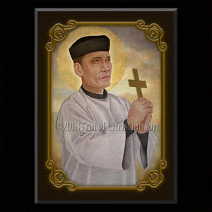 St. Andrew Dung-Lac Plaque & Holy Card Gift Set