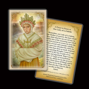Our Lady of La Salette Holy Card