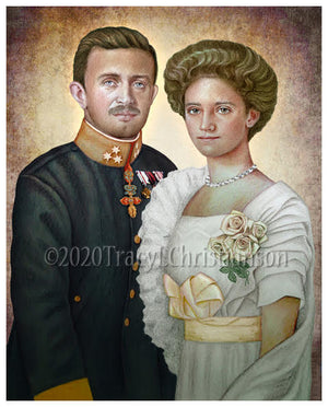 Bl. Karl of Austria and Zita of Austria Print