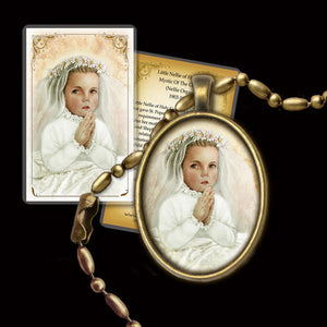Little Nellie of Holy God (Nellie Organ) Pendant & Holy Card Gift Set