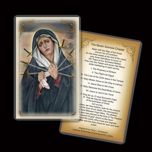 Seven Sorrows of Our Lady Holy Card
