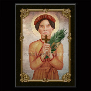 St. Agnes Le Thi Thanh Plaque & Holy Card Gift Set