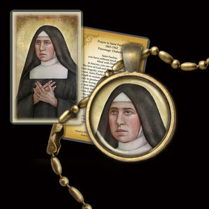 St. Pauline of the Agonizing Heart of Jesus Pendant & Holy Card Gift Set