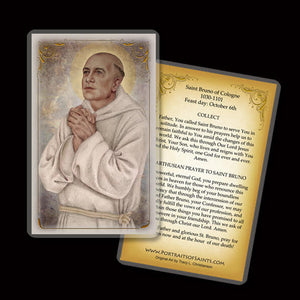 St. Bruno of Cologne Holy Card