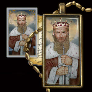 St. Alfred the Great Pendant & Holy Card Gift Set