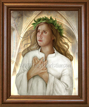 St. Christina the Astonishing Framed