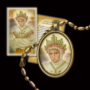 Our Lady of La Salette Pendant & Holy Card Gift Set