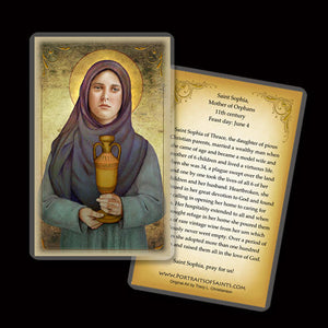 St. Sophia, Mother of Orphans Holy Card