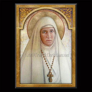 St. Elizabeth of Russia (St. Ella) Plaque & Holy Card Gift Set