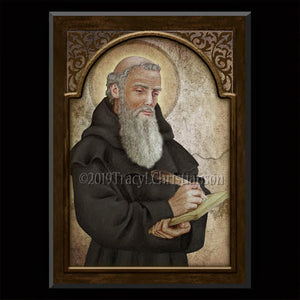 St. Bede the Venerable Plaque & Holy Card Gift Set