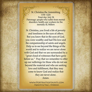St. Christina the Astonishing Holy Card