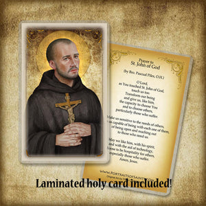 St. John of God Plaque & Holy Card Gift Set