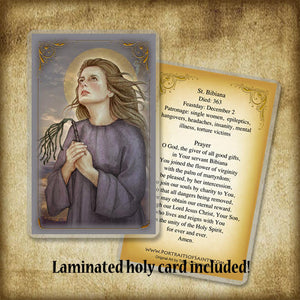 St. Bibiana Pendant & Holy Card Gift Set