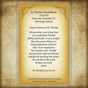 St. Thorlak Thorhallsson Holy Card