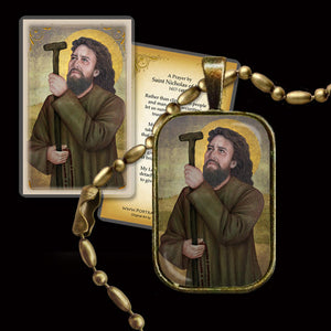 St. Nicholas of Flüe Pendant & Holy Card Gift Set