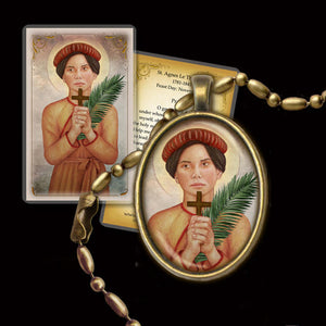 St. Agnes Le Thi Thanh Pendant & Holy Card Gift Set
