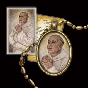 St. Bruno of Cologne Pendant & Holy Card Gift Set
